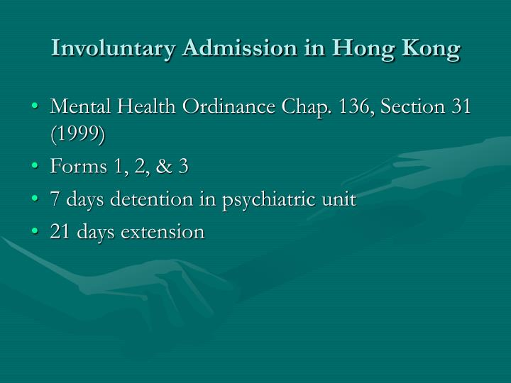 Involuntary Admission in Hong Kong