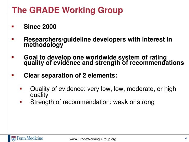 The GRADE Working Group
