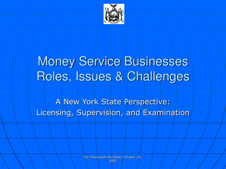money service businesses roles issues challenges n.