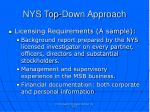 nys top down approach1