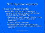 nys top down approach2