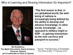 why is learning and sharing information so important