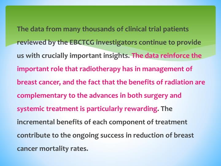 The data from many thousands of clinical trial