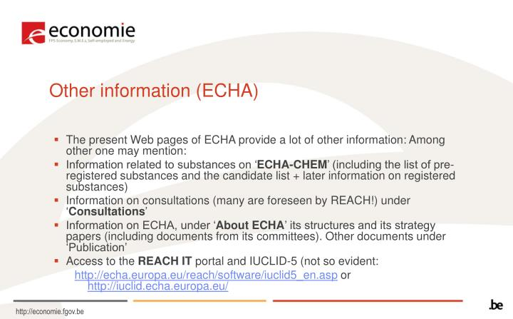 Other information (ECHA)