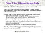 phase ii due diligence senior study