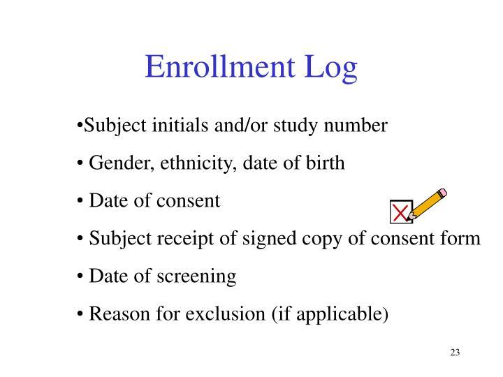 Enrollment Log