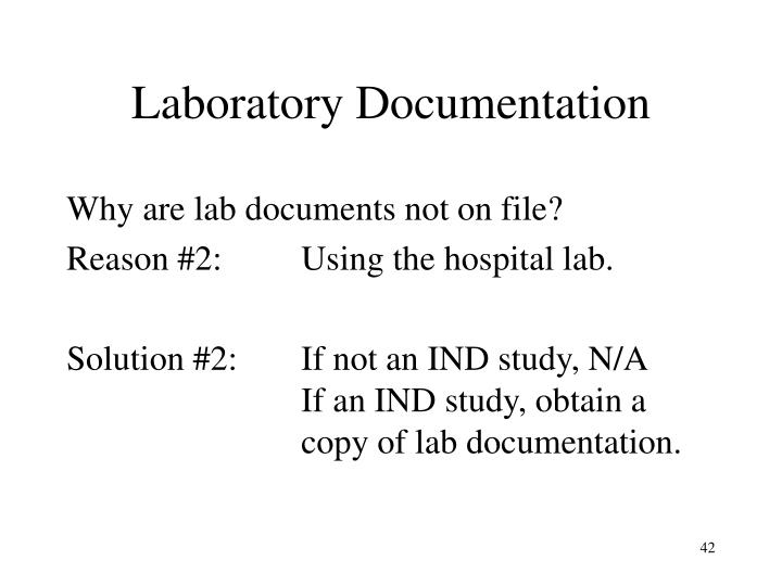 Laboratory Documentation