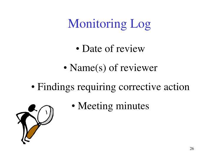 Monitoring Log