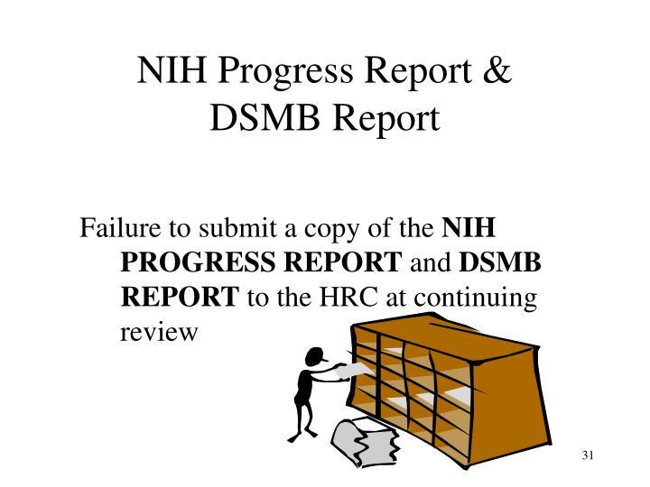NIH Progress Report &