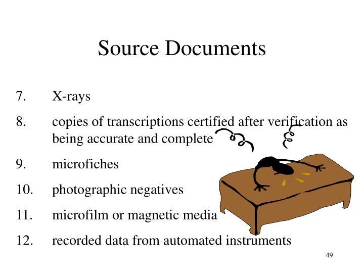 Source Documents