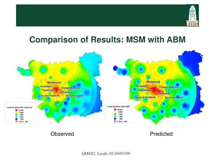 Comparison of Results: MSM with ABM
