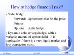how to hedge financial risk