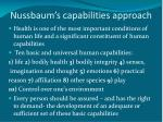 nussbaum s capabilities approach