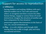 support for access to reproduction2