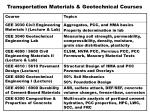 transportation materials geotechnical courses1