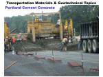 transportation materials geotechnical topics