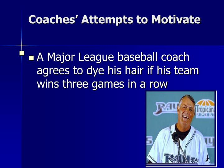 Coaches' Attempts to Motivate