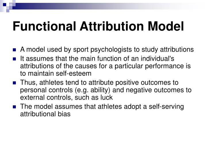 Functional Attribution Model