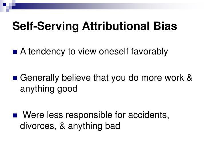 Self serving attributional bias