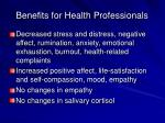 benefits for health professionals