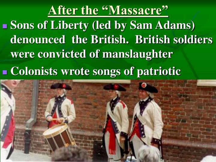 "After the ""Massacre"""