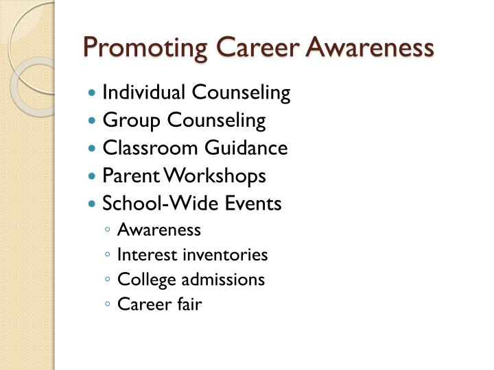 Promoting Career Awareness