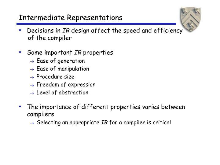 Intermediate representations2