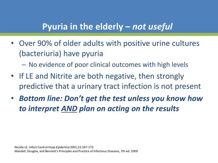 Pyuria in the elderly