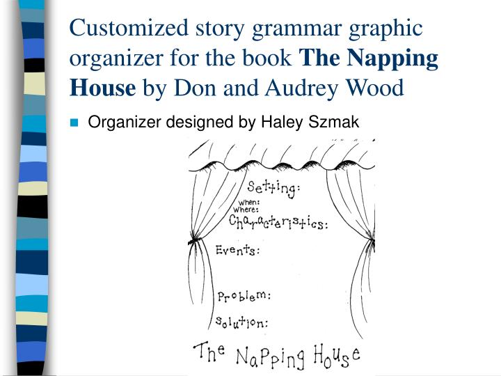 Customized story grammar graphic organizer for the book