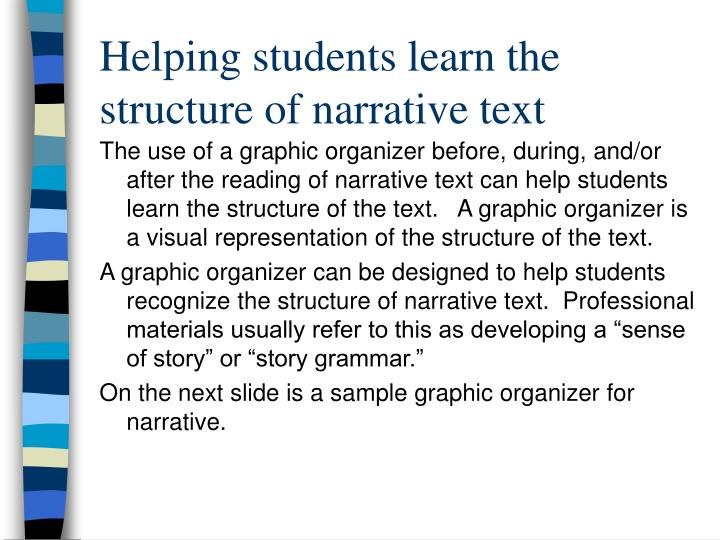 Helping students learn the structure of narrative text