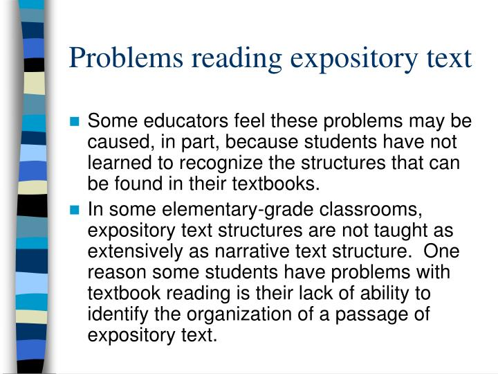 Problems reading expository text