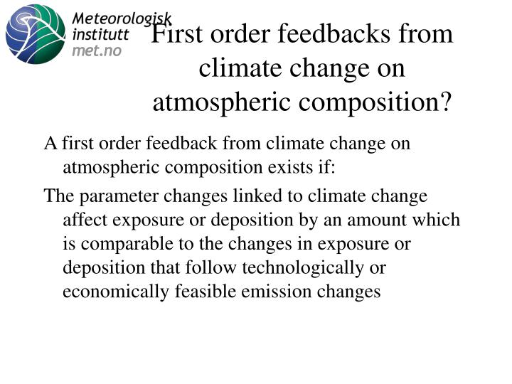First order feedbacks from climate change on atmospheric composition?