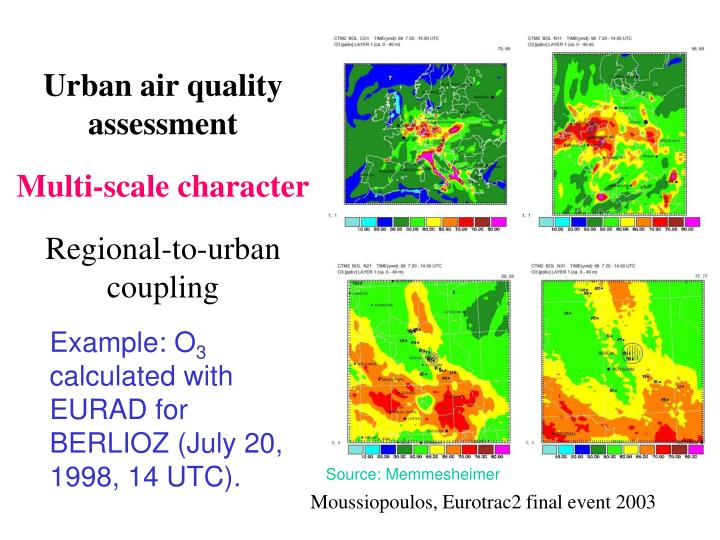 Urban air quality assessment
