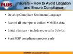 insurers how to avoid litigation and ensure compliance1