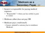 medicare as a secondary payer