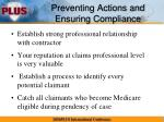 preventing actions and ensuring compliance2
