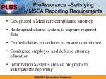 proassurance satisfying mmsea reporting requirements