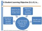 a student learning objective s l o is