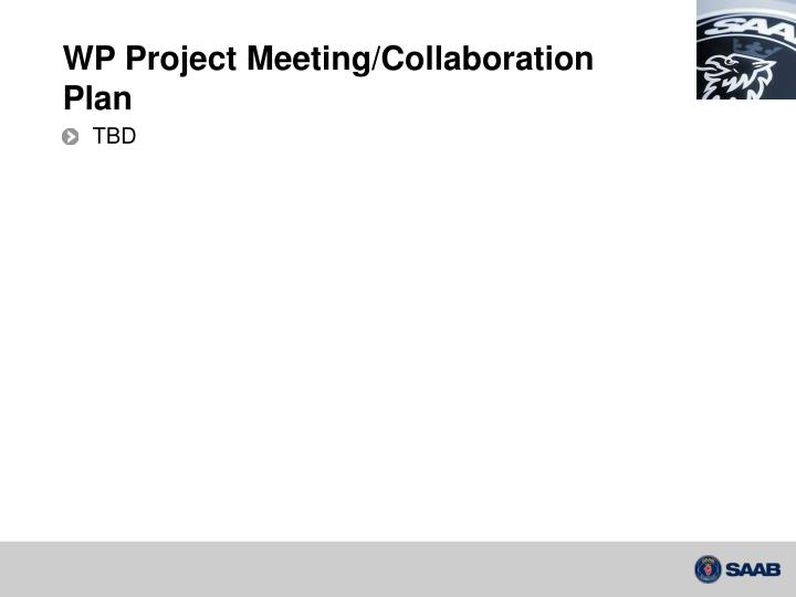 WP Project Meeting/Collaboration Plan