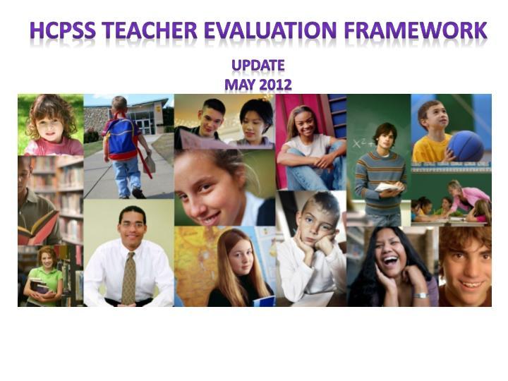 HCPSS Teacher Evaluation Framework