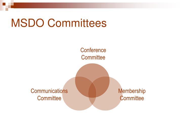 MSDO Committees
