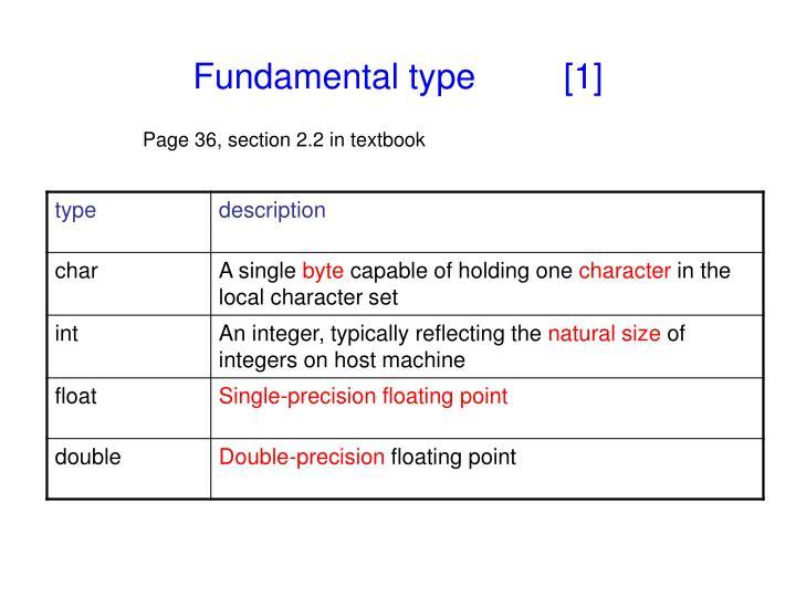 Fundamental type 1