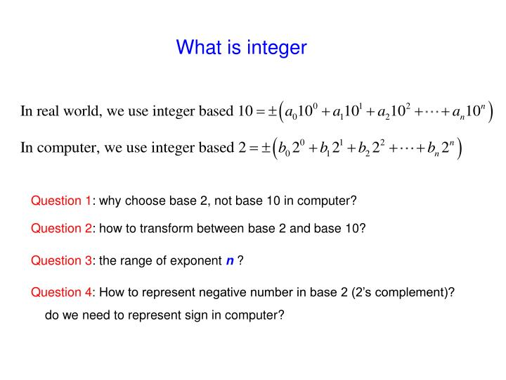 What is integer