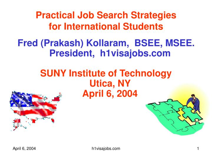 practical job search strategies for international students n.