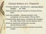 clinical actions of l theanine