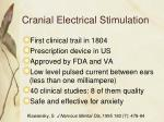 cranial electrical stimulation