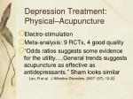depression treatment physical acupuncture