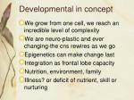 developmental in concept