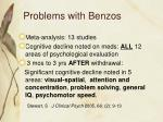 problems with benzos