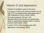vitamin d and depression